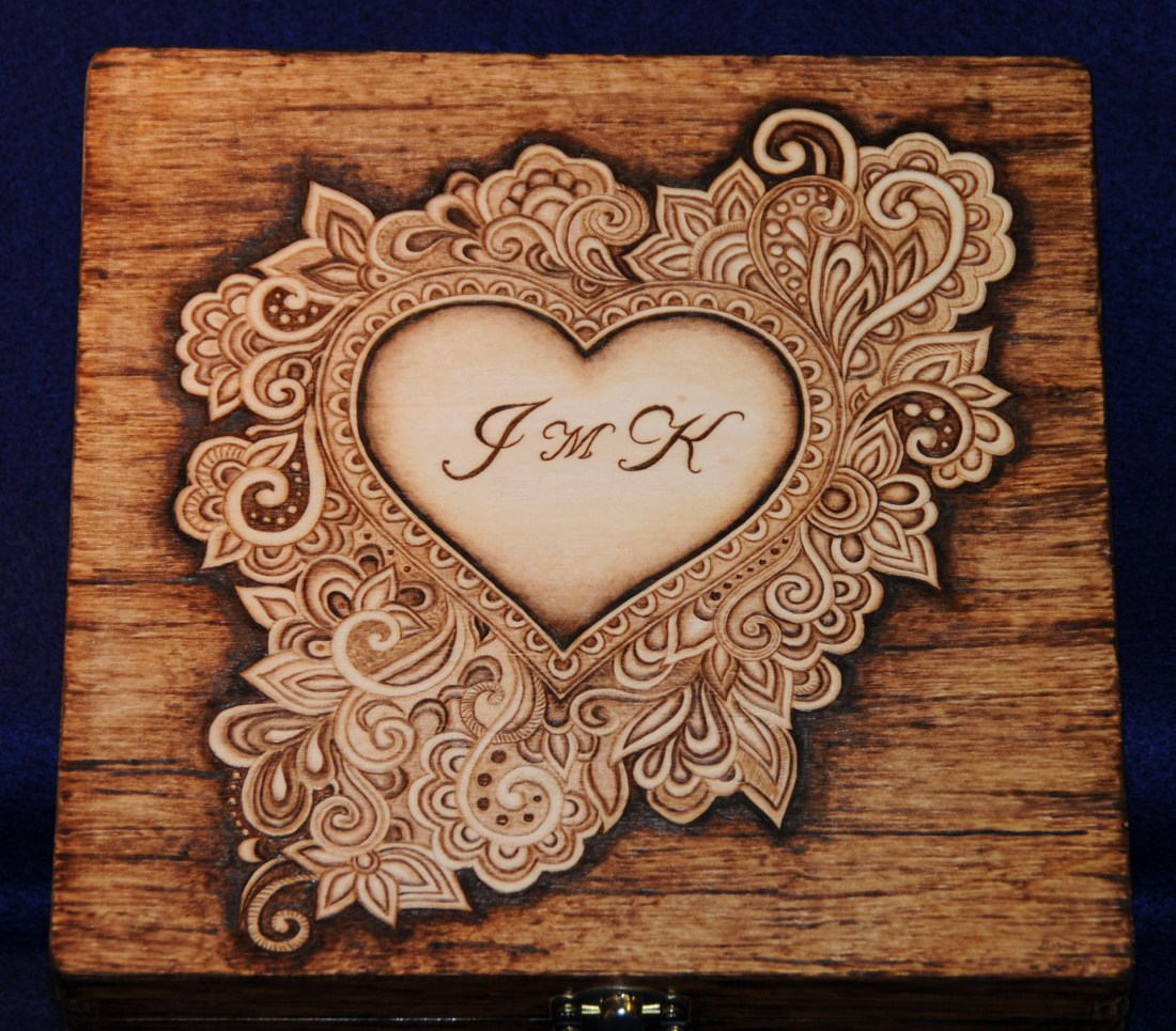 scrolling heart wood burning pyrography bmj