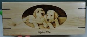 yellow lab puppies pyrography wood burning bmj