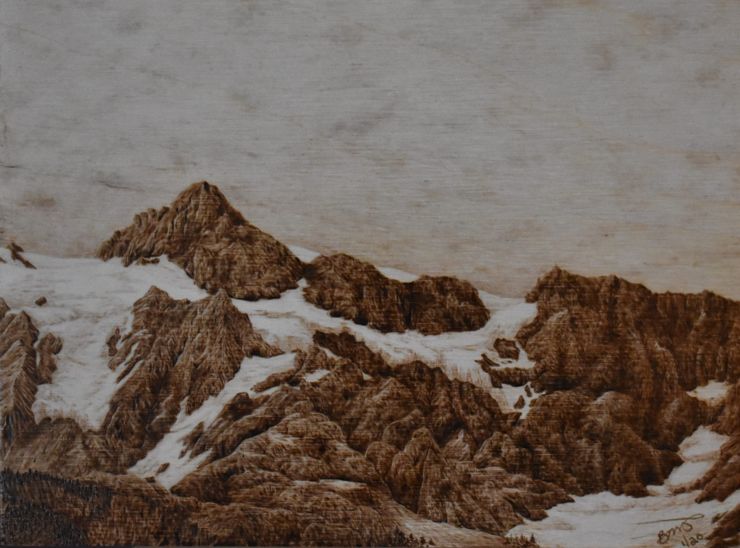 Pyrography Techniques Mt Shuksan Wood Burning Tutorial Pyrography Made Easy