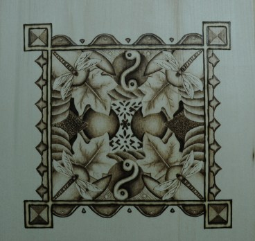 The Abstract Dragonfly Pyrography Tutorial Wood Burning