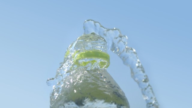 Microplastics bottled water