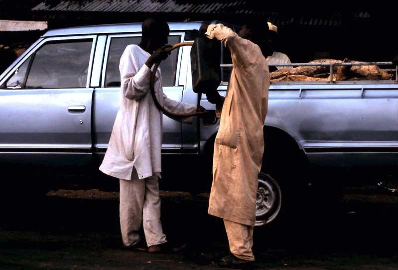 Tankstelle in Kamerun.