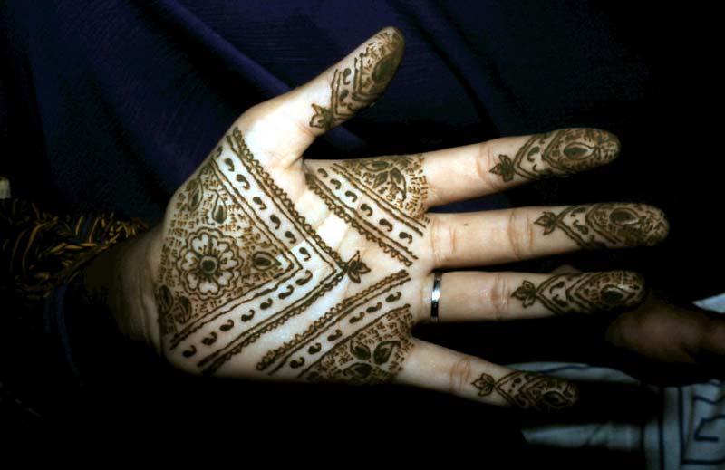 Henna-Hände.