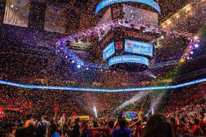 Confetti drop at Thompson Boling Arena - Photo by Garrett Hill