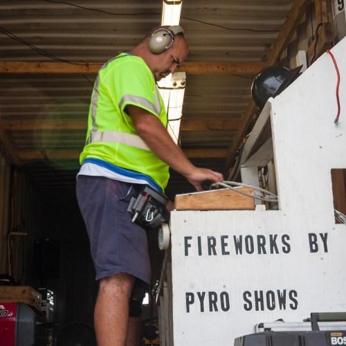 Pyro Shows, Jim Edwards, Photo by Garrett Hill