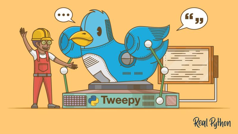 make twitter both with Python Tweepy
