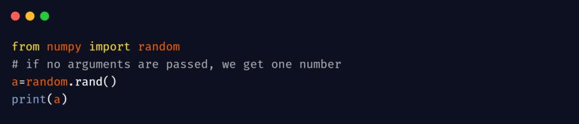 numpy random