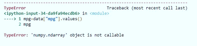 NumPy ndarray object is not callable error on read_csv