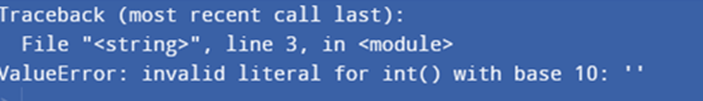 invalid literal for int() with base 10 example 6
