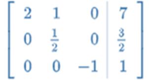 matrix gaussian elimination python