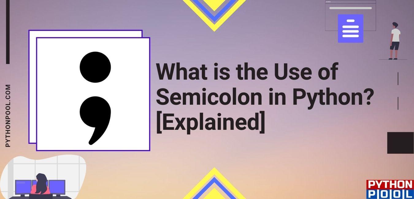 python semicolon