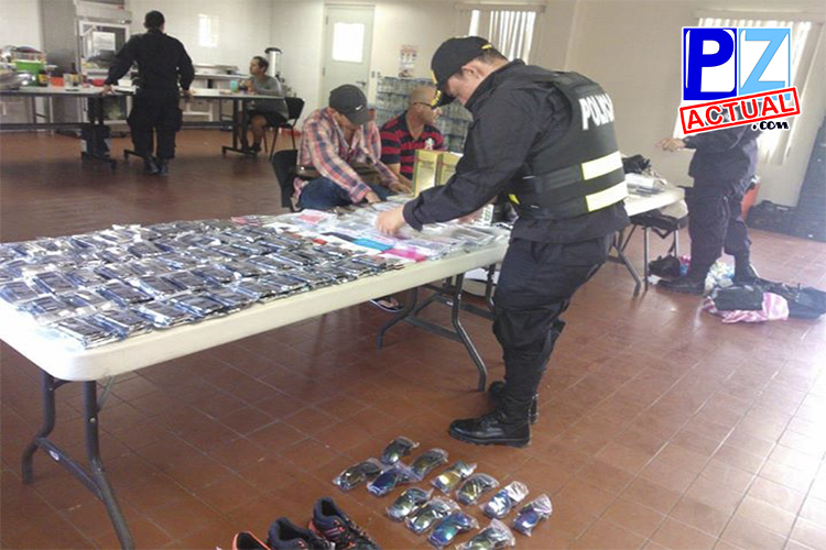 Fuerza Pública decomisa contrabandos millonarios de celulares en el Kilómetro 35