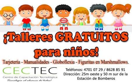 CECTEC te ofrece talleres gratuitos para niños en estas vacaciones.