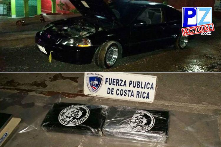 Dos hombres fueron detenidos en Paso Canoas por transportar carga de cocaína.