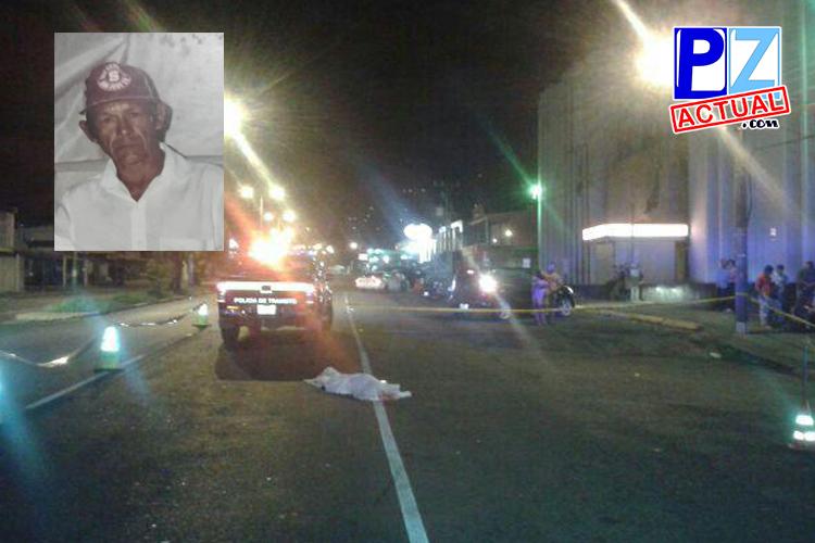 Adulto mayor murió atropellado este fin de semana, vehículo se dio a la fuga.