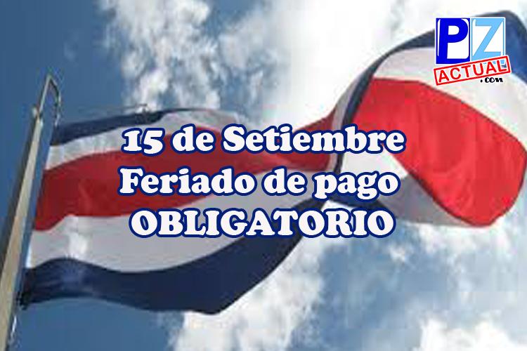 Día de la Independencia es feriado de pago obligatorio.