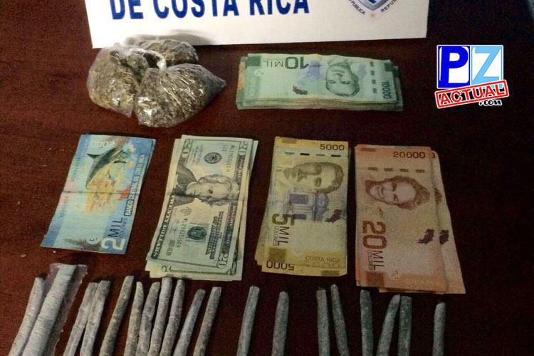 Acciones preventivas en Quepos permiten decomiso de drogas y armas.