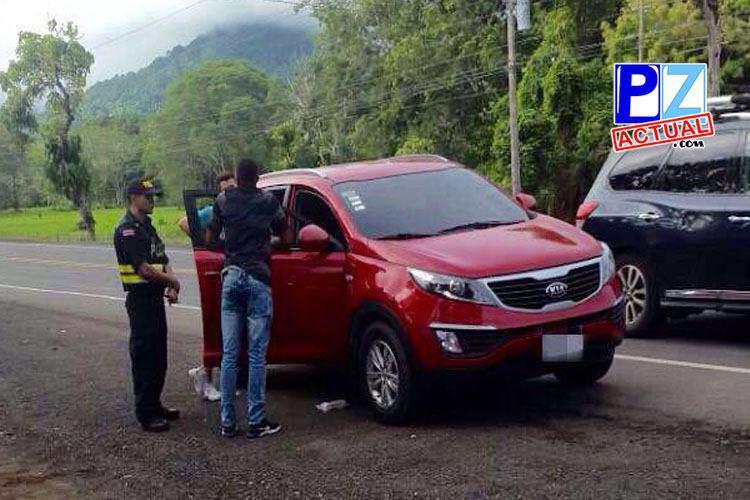 Fuerza Pública decomisa a panameño más de catorce mil dólares en Garabito Puntarenas.