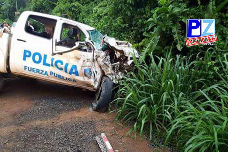 Dos oficiales de la Fuerza Pública fallecen tras sufrir accidente de tránsito en Garabito.