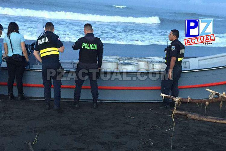 Aparece droga presuntamente perteneciente a ecuatorianos y costarricense detenidos el sábado en Garabito.