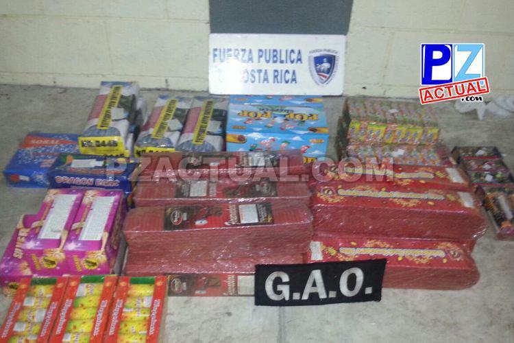 Fuerza Pública interceptó cargamento de Pólvora en Golfito.