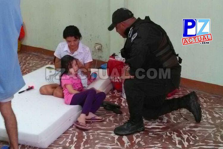 Fuerza Pública, Guardacostas y Policía de Fronteras ayudan a cientos de damnificados por inundaciones.