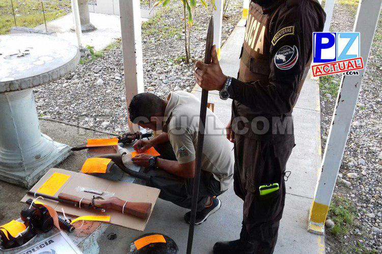 Policía de Fronteras detuvo a coligalleros en el Parque Nacional Corcovado.