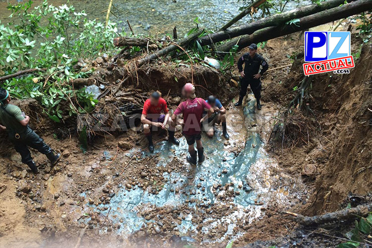 Mineros ilegales detenidos www.pzactual.com