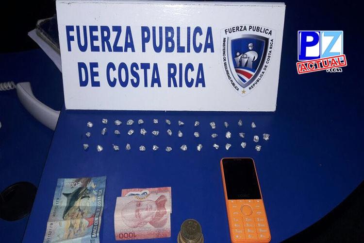 Acciones policiales en Garabito y Puntarenas permiten realizar numerosos decomisos de droga.
