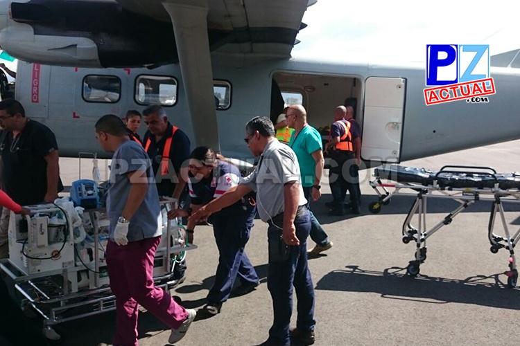 Servicio de Vigilancia Aérea del Ministerio de Seguridad Pública trasladó a dos neonatos desde Puntarenas.