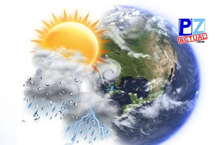 Lluvias en distintos sectores del país durante este día.