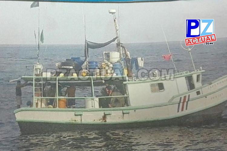 Rescatan tripulación de barco pesquero a unas 245 millas náuticas al noreste de Punta Burica, en el Pacífico sur.