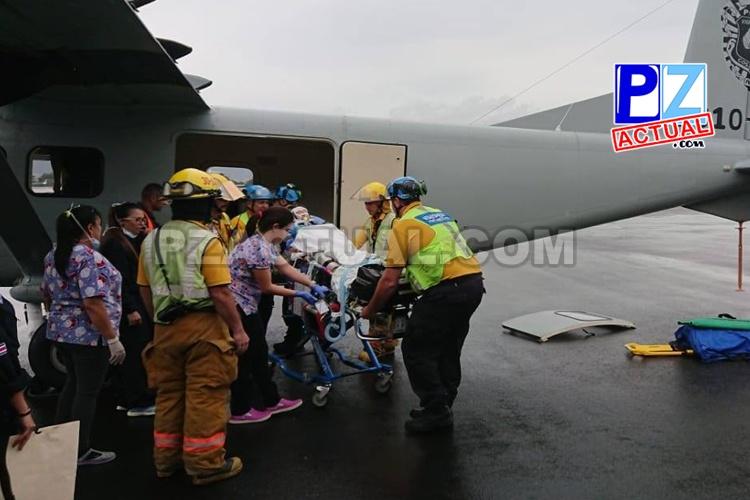 Aeronaves policiales permiten que pacientes viajen seguros hasta centro médicos.