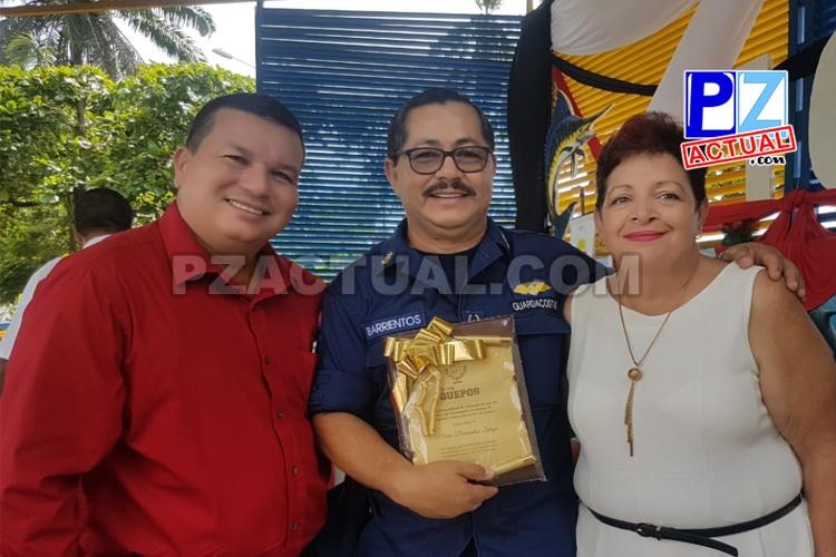 Director de la Academia del Guardacostas es homenajeado por Municipalidad de Quepos.