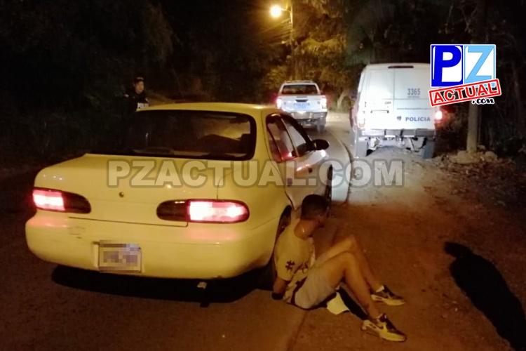 Rápida atención policial permitió aprehender dos sujetos que asaltaron a otro en Manuel Antonio.
