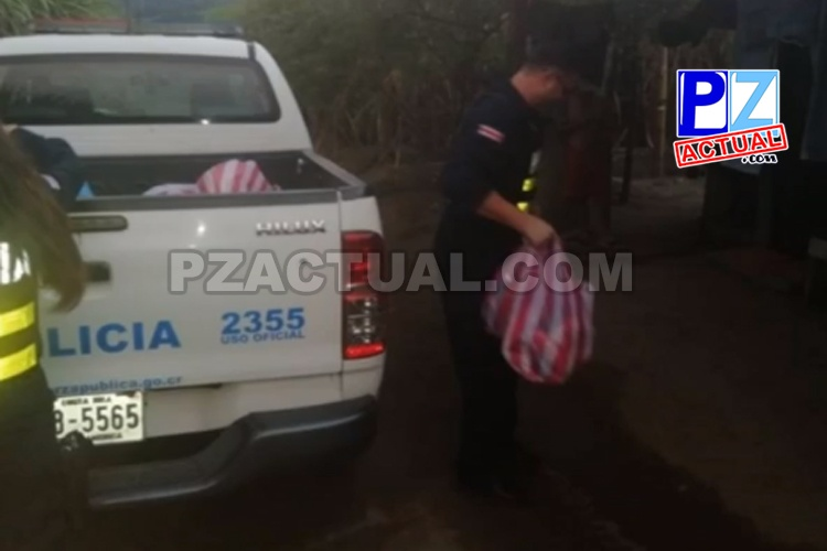 Fuerza Pública auxilia a familia de Pérez Zeledón en pobreza extrema.