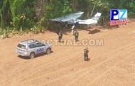 Autoridades ubican avioneta en la Zona sur del país.