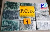 Fuerza Pública y PCD detienen a pareja que transportaba nueve kilos de cocaína en Ciudad Cortés.
