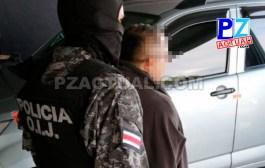 OIJ detuvo en Coto Brus a sospechoso de venta de drogras.
