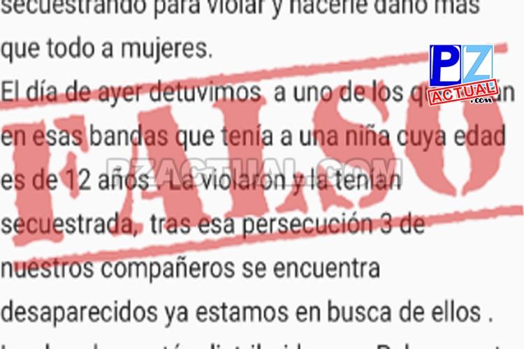 El OIJ alerta sobre información falsa que circula sobre supuesta banda que secuestra mujeres en Osa.