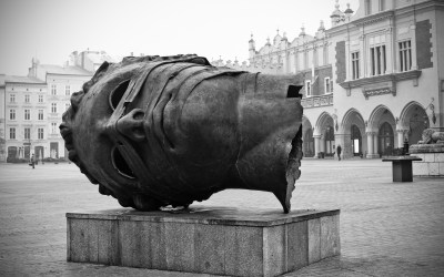 Head sculpture in Cracao
