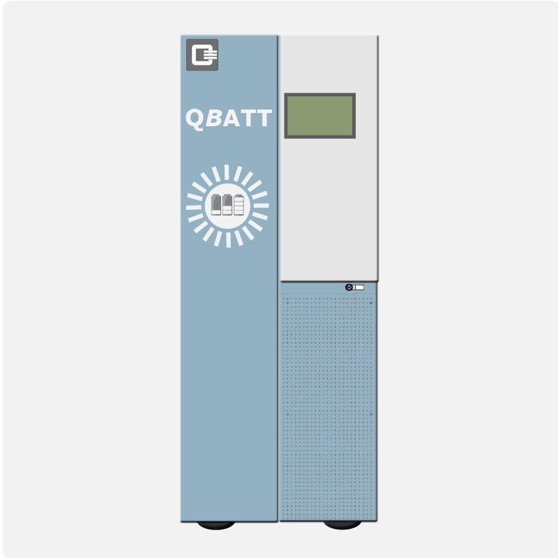 QBATT mit interner Verkabelung und Leistungselektronik sowie Steuerungstechnik und Display (EMS)