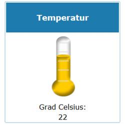LoRa Übertragung Temperatur Feuchtesensor Grad Celsius