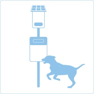 Smarte Hundetoilette belloo-smart mit Messsensorik & Datenübertragung