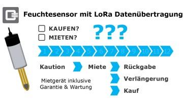 Sensor mieten Feuchtesensor Lora Datenübertragung