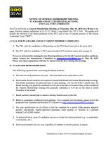 Q300 PTA PTA Board SLT Elections Notice 2019