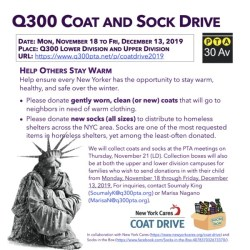 Q300PTACommunicationComm2019PTACoatAndSockDriveFlyer