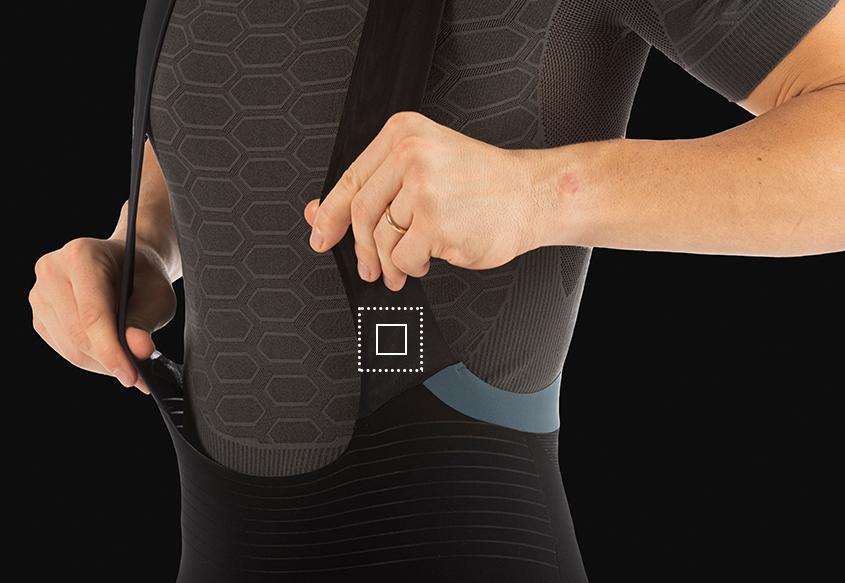 Mens cycling bib shorts Unique - Straps - 001X