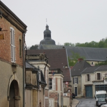 Hautvillers with Dom Perignon's Church in background