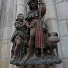 Sculpture at St Urbain Church in Troyes